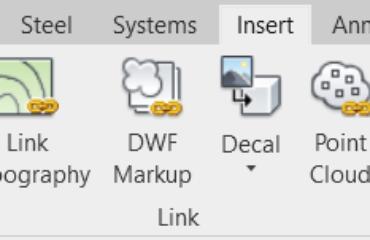 Insert Tab – Link Panel