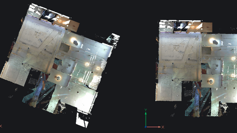 Point clouds alignment
