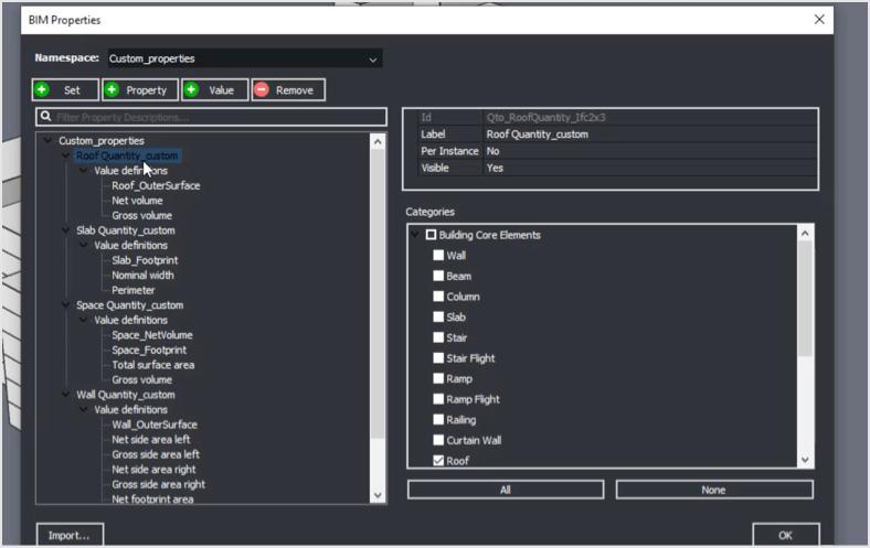User Configurable Quantities