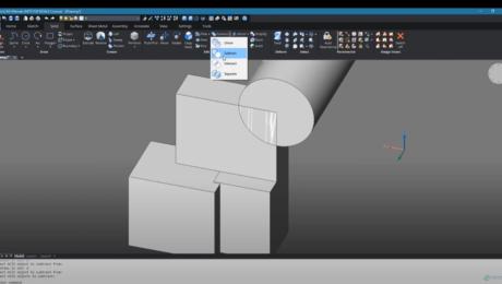 Combining 3D Solid Models in BricsCAD