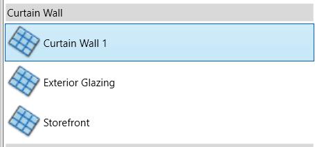 Revit Curtain Walls