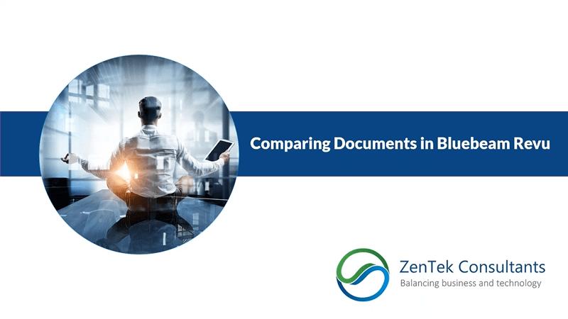 Comparing Documents in Bluebeam Revu
