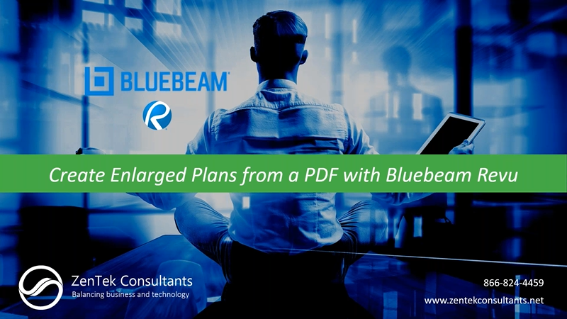 Create Enlarged Plans from a PDF with Bluebeam Revu
