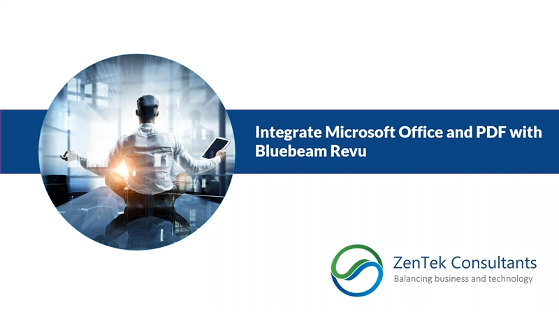 Integrate Microsoft Office and PDF with Bluebeam Revu