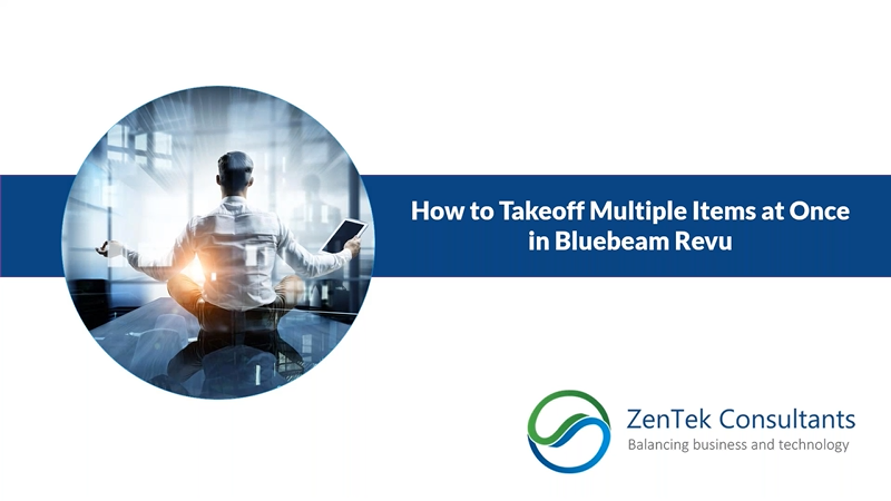 How to Takeoff Multiple Items at Once in Bluebeam Revu