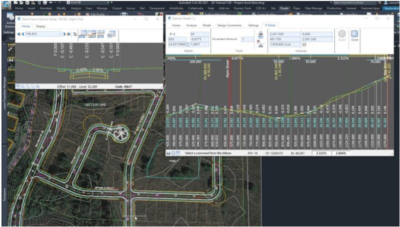 Civil Site Design User Interface